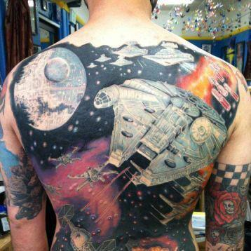 65 star wars tattoos you have to see to believe for Mural tattoo