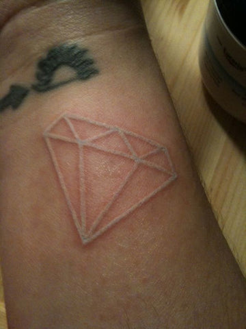 diamond white ink tattoo