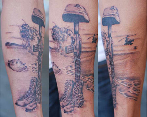 1702a6723 11 Fallen Soldier Tattoos In Remembrance of Those who Served ...