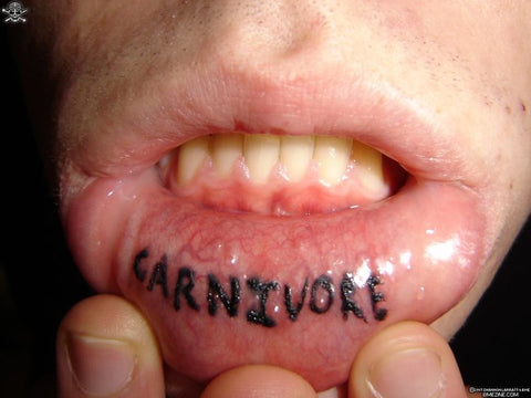 hysterical inner lip tattoo