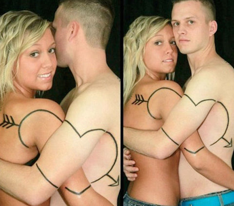 couple heart tattoo