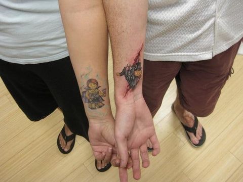 couple lego tattoo tattoo