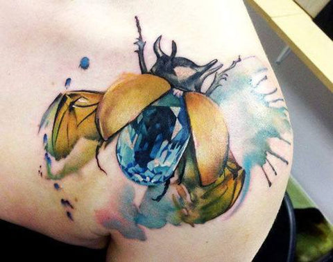 insect-bug-june watercolor tattoo