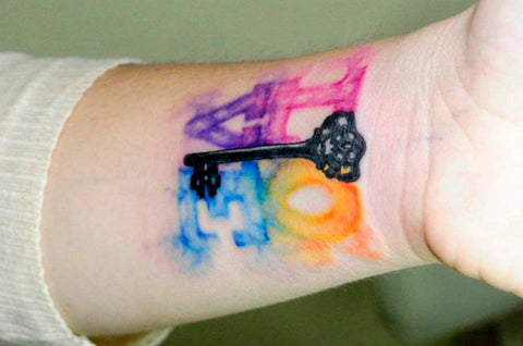 love watercolor tattoo