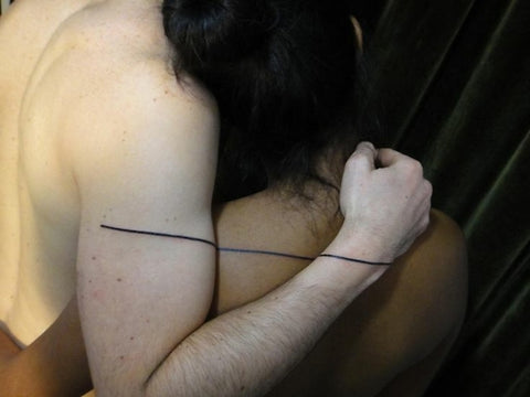 Couple tattoo ligne