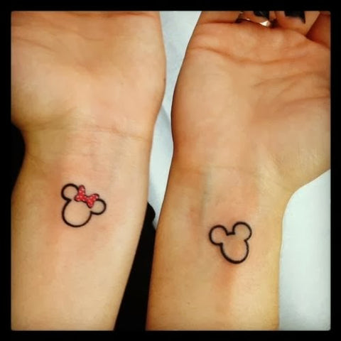 Tatouage de couple Mickey & Minie