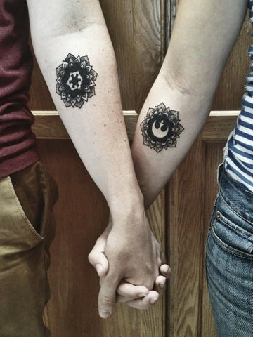 Paare Tattoos Mandalas