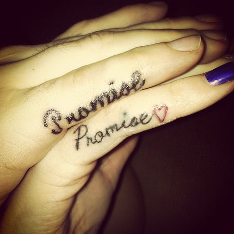 Couple tattoos Promise