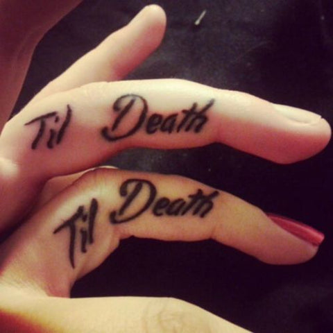 Couple tattoos Til Death