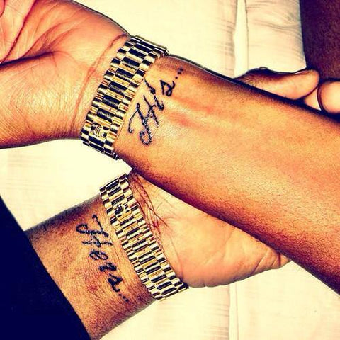 Paare Tattoos His Hers
