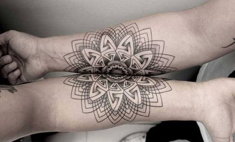 Couple tattoo mandala