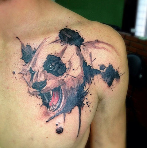 panda watercolor tattoo