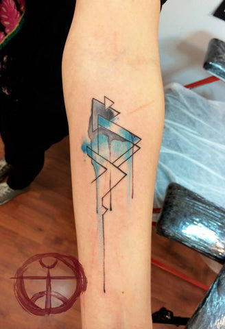 pyramids watercolor tattoo