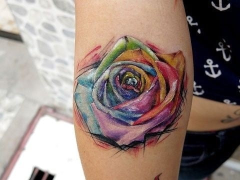 huge watercolor tattoo