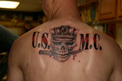 30 bad ass marine corps tattoos temporary tattoo blog for Vulgar temporary tattoos