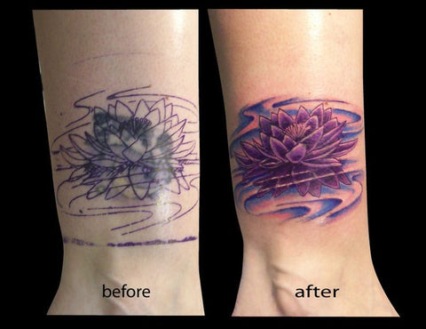 15118c279 10 Amazing Wrist Tattoo Cover-Ups: Before & After | Temporary Tattoo ...