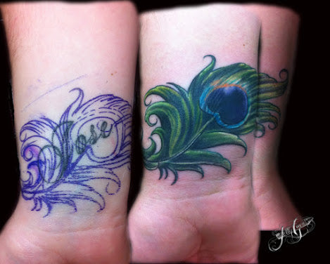 10 amazing wrist tattoo cover ups before after for Wrist tattoo cover ups