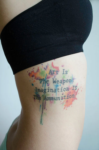 words saying watercolor tattoo