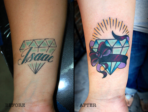 10 Amazing Wrist Tattoo Cover-Ups: Before & After | Temporary Tattoo ...
