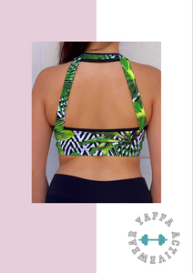 Jungle fitness top - Yaffaswimwear