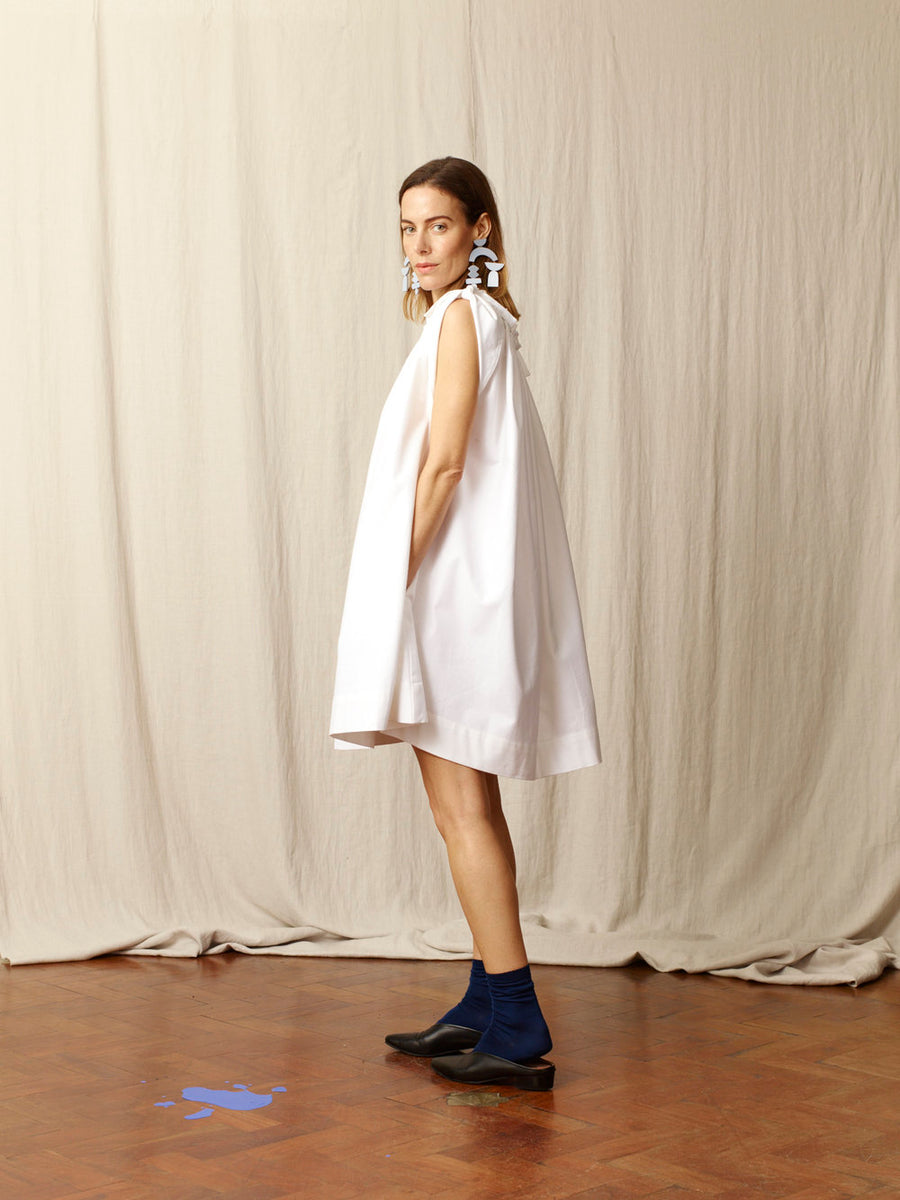 Molly White Cotton Dress