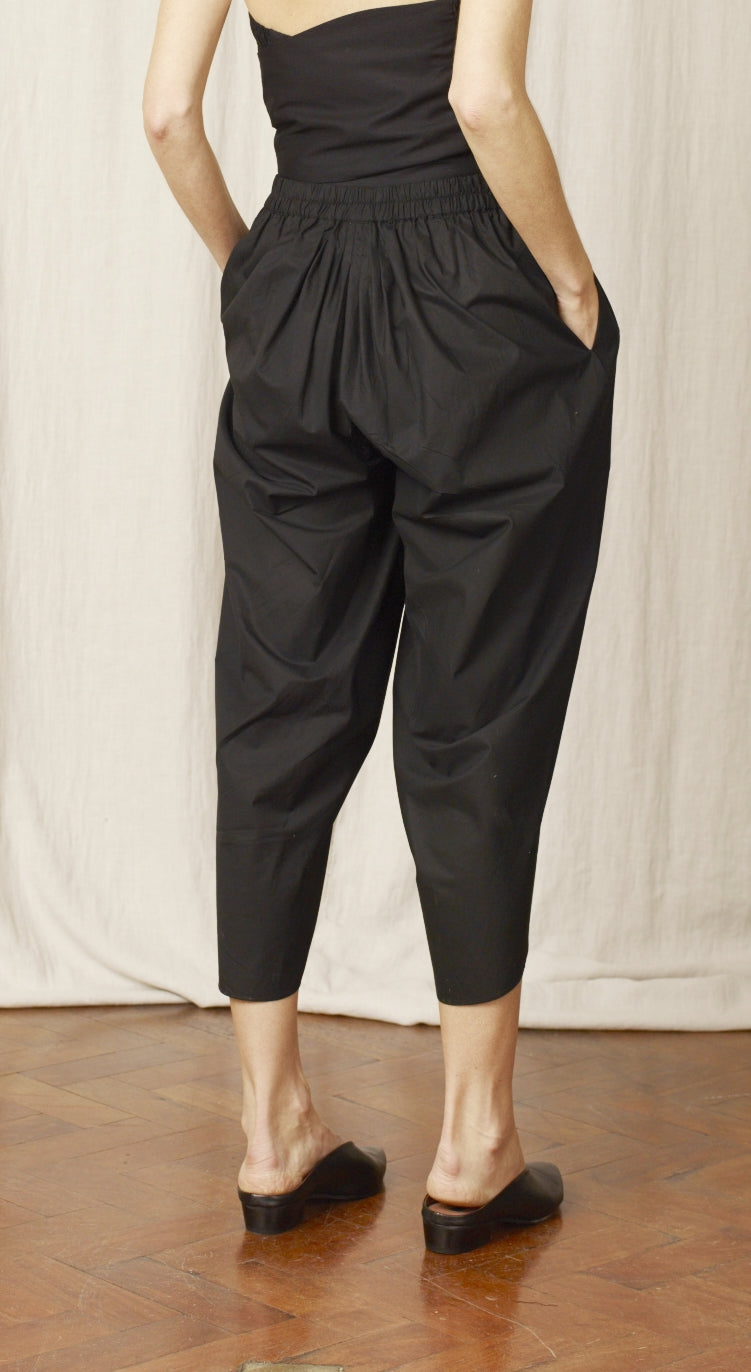 Maga Black Cotton Pant