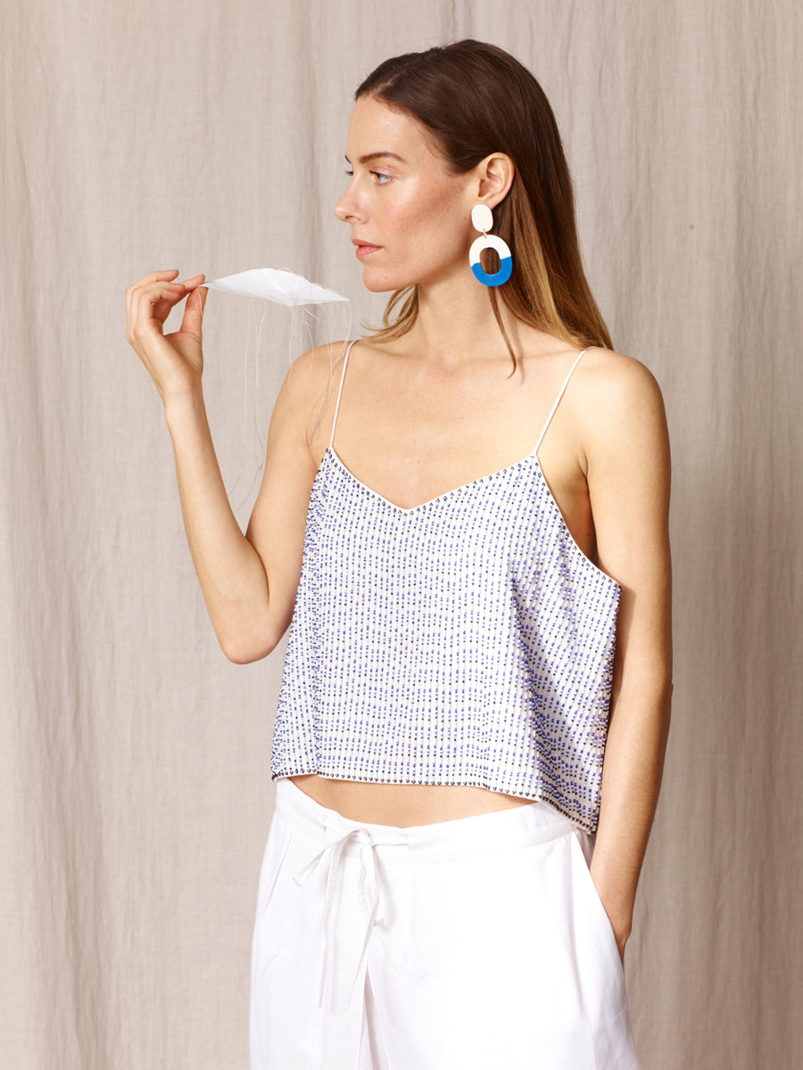 Archive Beaded Top