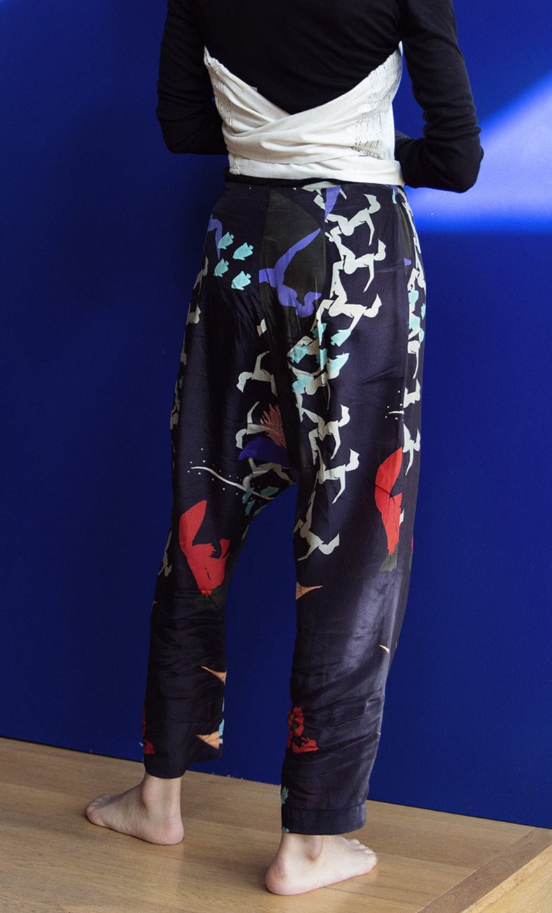 Samia Silk Pant- Joon Print I Made to Order