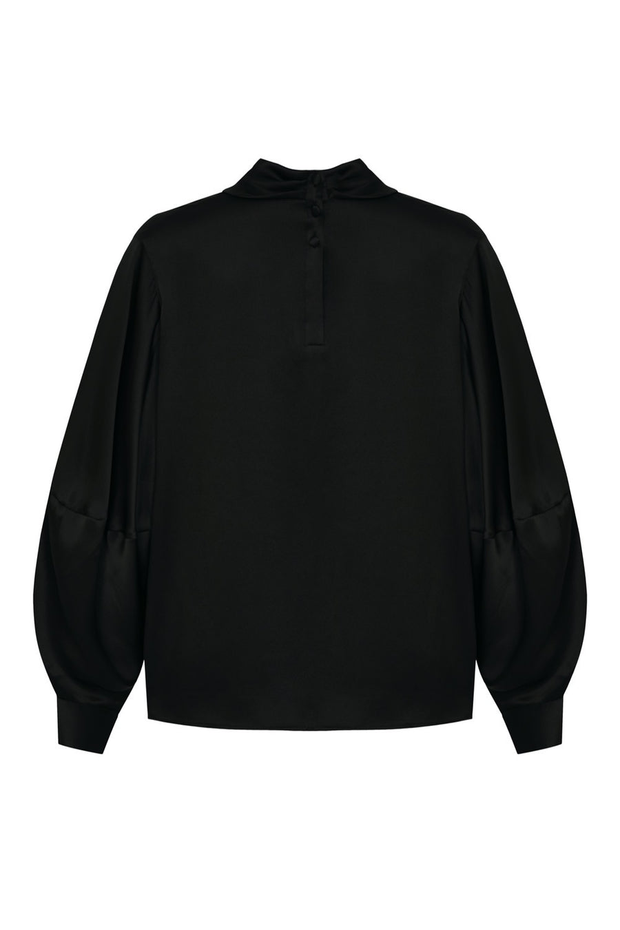 Bels Silk Blouse Black I Made to Order