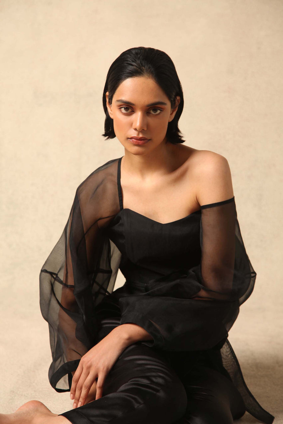 Zof Silk Organza Wrap Top- Made to Order