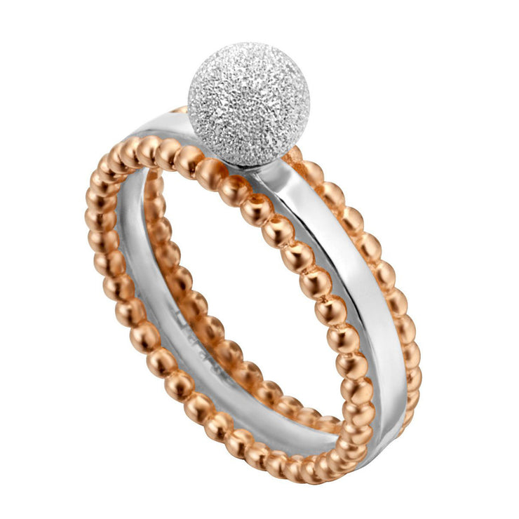 Esprit Damen Ring Powder Roségold 925 Sterling Silber - ESRG002012