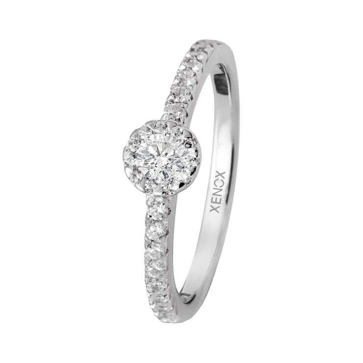 Xenox Silber Sterling 925 Damen Ring mit Zirkonia - Xenox and Friends XS9116