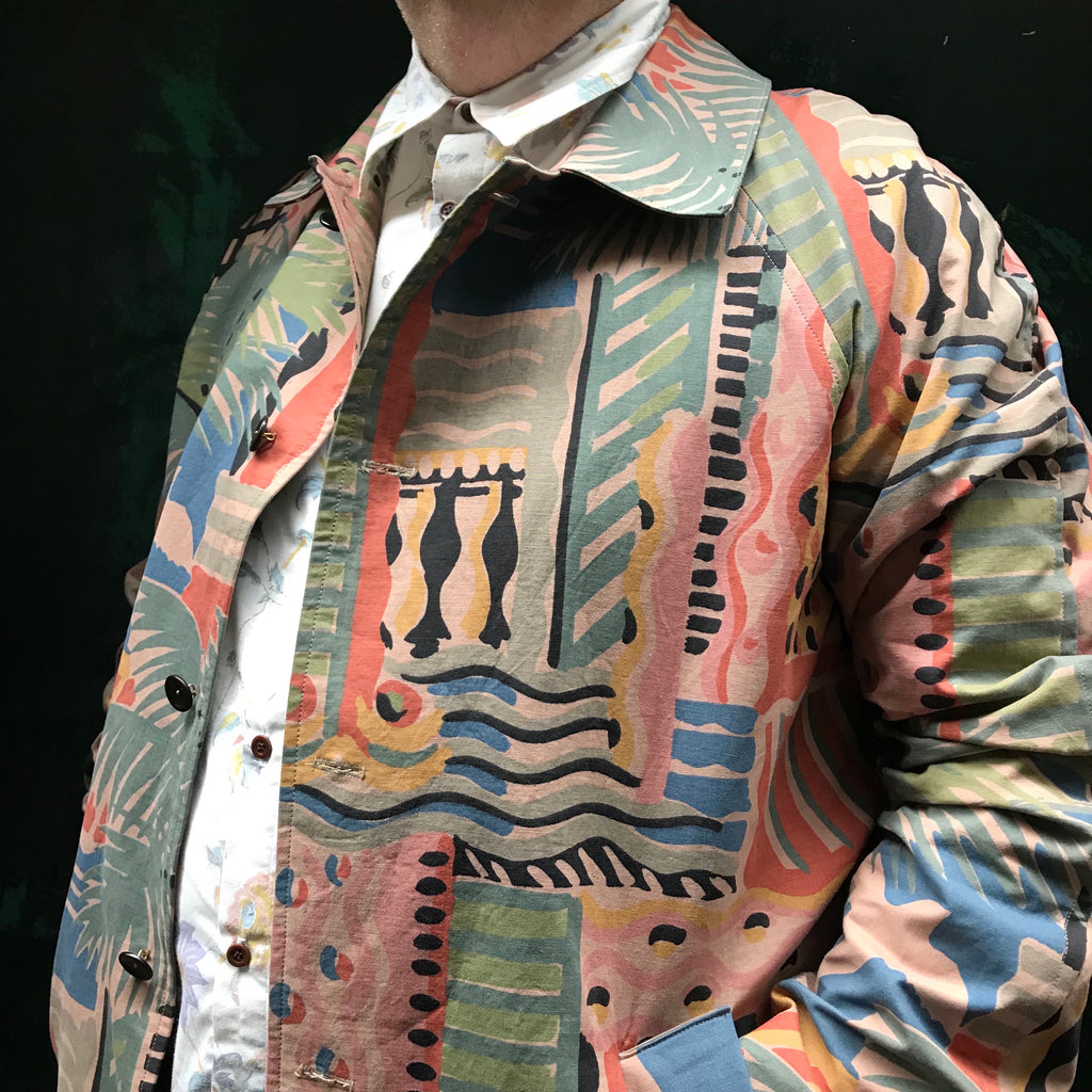 Bespoke Coat Created from Luxury Upcycled Vintage Textile