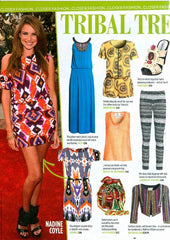 Screen Print Vest in Closer Magazine