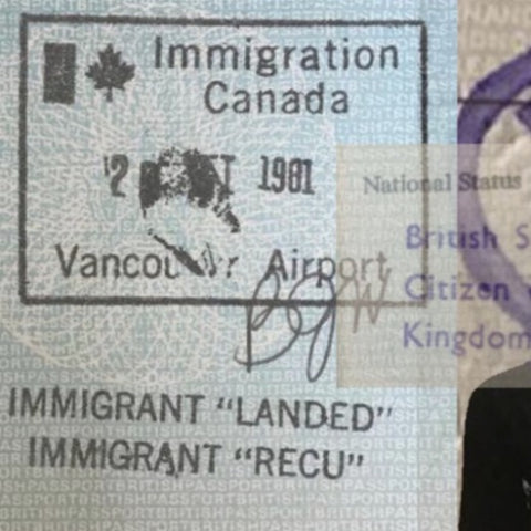 Canadian passport stamp, immigrant landed, immigrant story, diaspora dialogues, storytellers