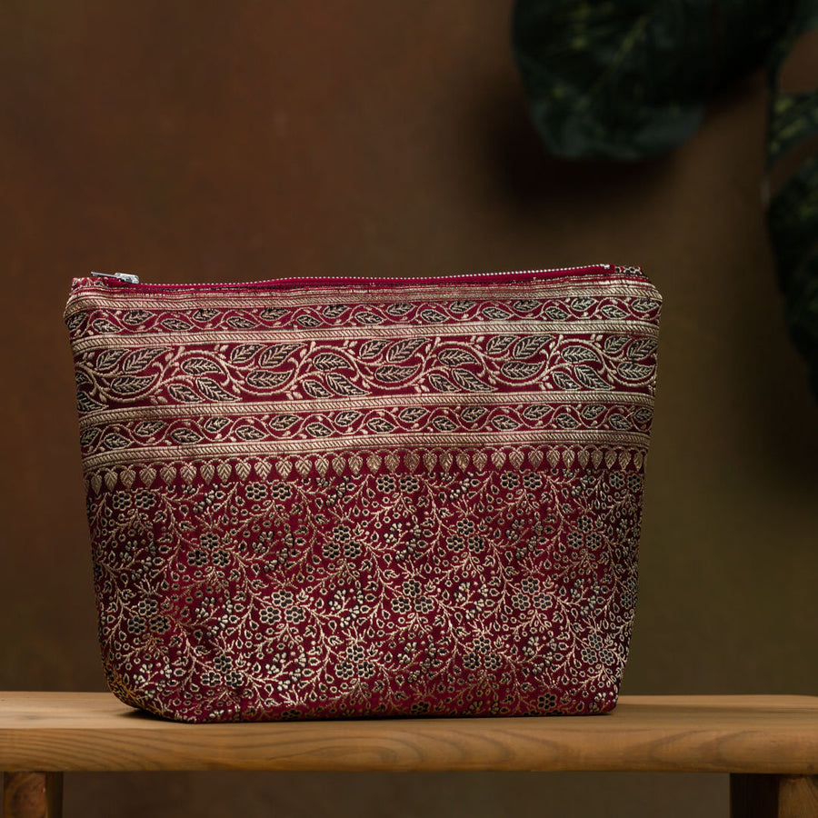 Upcycled Brocade Sari Pouch