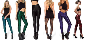 Leg Shaping Reflective Mermaid Leggings