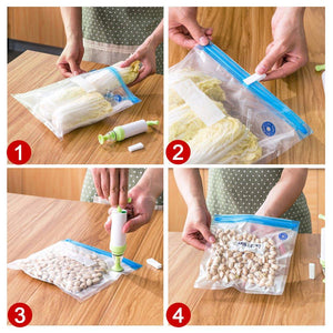 Food Saver Reusable Vacuum Sealer Set