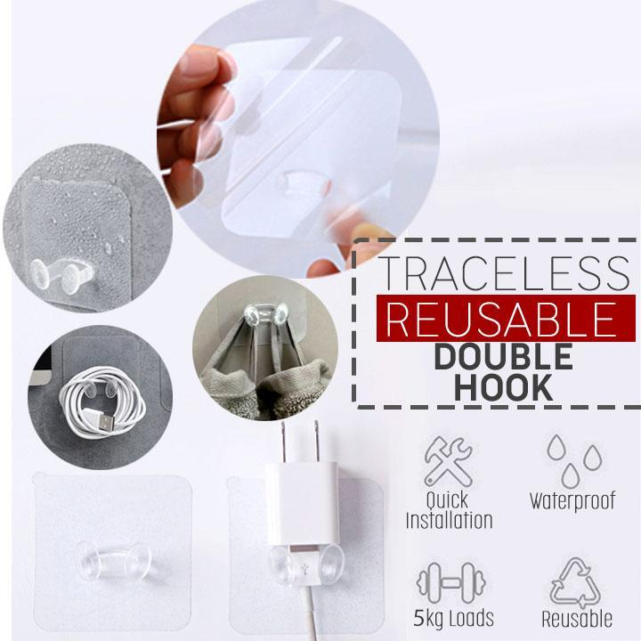 Traceless Reusable Double Hooks (10pcs Set)