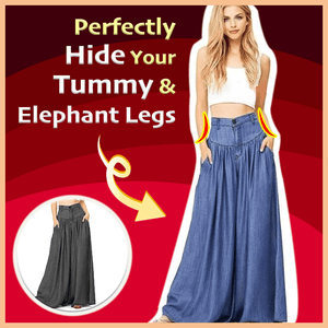 Super Wide-Leg Slimming Baggy Trousers