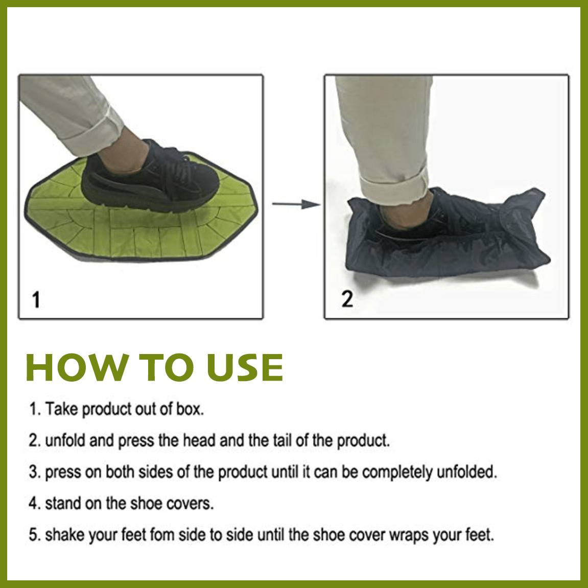 Auto Wrap Hands-Free Shoe Covers