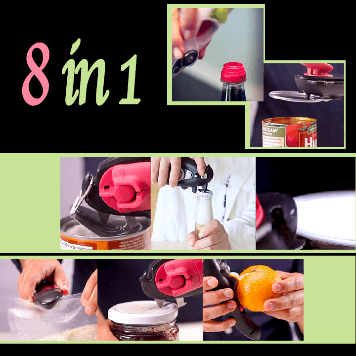 8 in 1 Multi-Functional Can Opener
