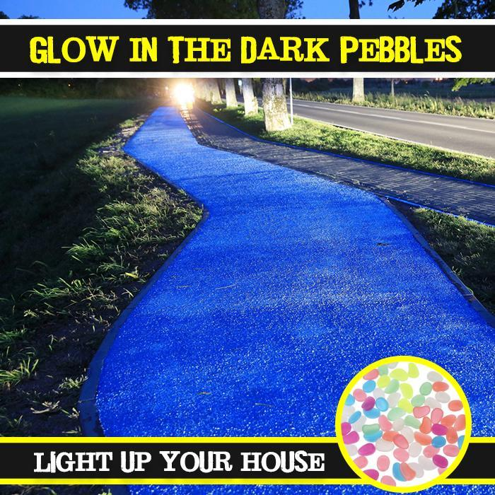 Glow In The Dark Pebbles (60 pcs)