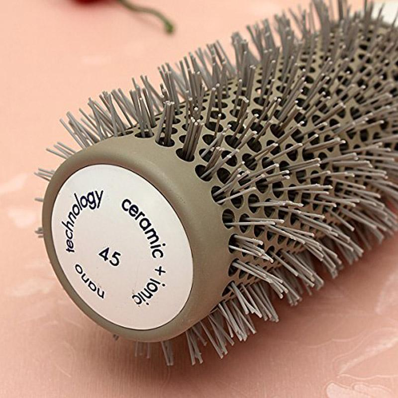 5 Sizes Hair Brush Ceramic Ion+ Round Comb Barber Dressing Salon Styling Handle Grip No slip