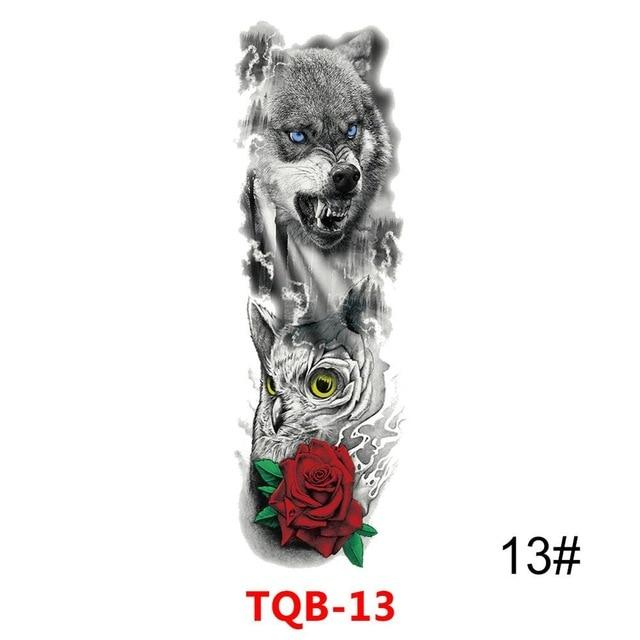 Waterproof Colorful Full Arm sleeve Tattoo temporary tattoo Sticker