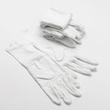 White Cotton Gloves for eczema protection sold in packs of 3 or 6
