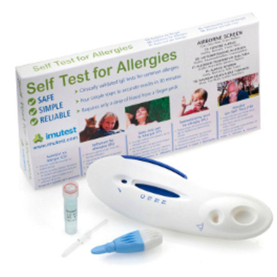 This the 3 in 1 Airborne Allergy Test which identifies whether you are allergic to cat, pollen and dustmite allergy from Allergy Best Buys