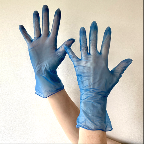 Latex Free Blue PPE Gloves (Small)
