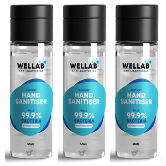 75% Alcohol sanitiser three pack of 50ml bottles handy for handbags, in the car  and travelling from Allergy Best Buys