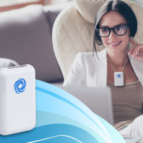 Rechargeable USB Personal Air Purifier: Air Supply AS-300R